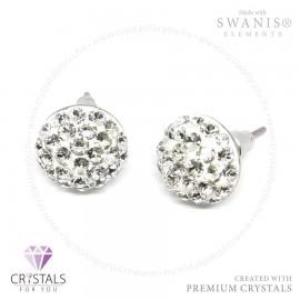Swarovski® kristállyal díszített félgömb alakú sok köves fülbevaló
