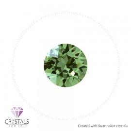 Swarovski® kristállyal díszített kör alakú fülbevaló - 35 Erinite szín