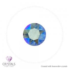 Swarovski® kristállyal díszített kör alakú fülbevaló - 38 Erinite Shimmer szín