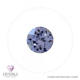 Swarovski® kristállyal díszített kör alakú fülbevaló - 46 Provance Lavender szín