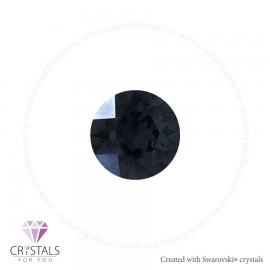 Swarovski® kristállyal díszített kör alakú fülbevaló - 59 Graphite szín