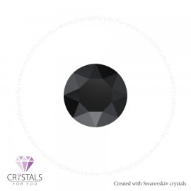 Swarovski® kristállyal díszített kör alakú fülbevaló - 60 Jet szín