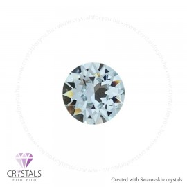 Swarovski® kristállyal díszített kör alakú fülbevaló - 13 Light Azore szín