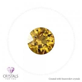 Swarovski® kristállyal díszített kör alakú fülbevaló - 26 Sunflower szín