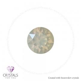 Swarovski® kristállyal díszített kör alakú fülbevaló - 04 White Opal szín