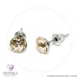 Swarovski® kristállyal díszített kör alakú fülbevaló - 05 Silk szín
