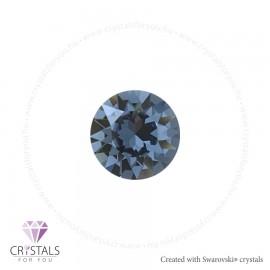 Swarovski® kristállyal díszített kör alakú fülbevaló - 21 Denim Blue szín