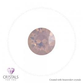 Swarovski® kristállyal díszített kör alakú fülbevaló - 09 Rose Water Opal szín