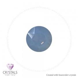 Swarovski® kristállyal díszített kör alakú fülbevaló - 20 Air Blue Opal szín