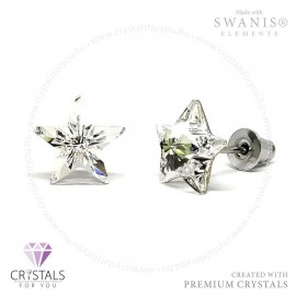 Swarovski® kristállyal díszített csillag alakú fülbevaló