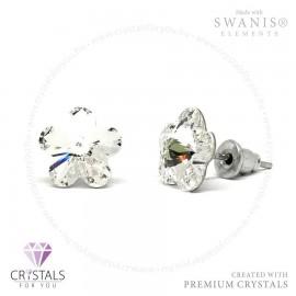 Swarovski® kristállyal díszített virág alakú fülbevaló