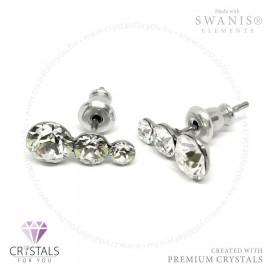 Swarovski® kristállyal díszített hóember alakú fülbevaló