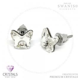 Swarovski® kristállyal díszített pillangó alakú fülbevaló