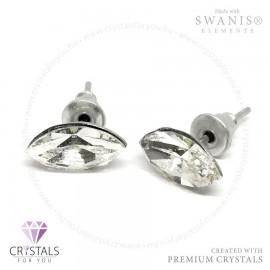 Swarovski® kristállyal díszített mandula alakú fülbevaló