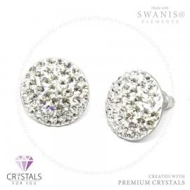 Swarovski® kristállyal díszített kör alakú sok köves fülbevaló