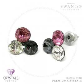 Swarovski® kristállyal díszített háromszög alakú fülbevaló