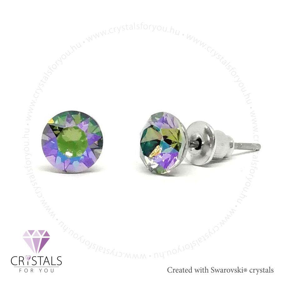 Swarovski® kristállyal díszített kör alakú fülbevaló - 37 Paradise Shine szín
