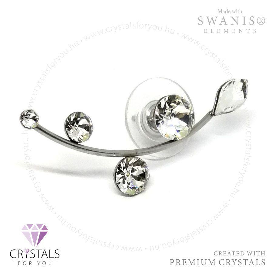 Swarovski® kristállyal díszített futó ágas fülbevaló