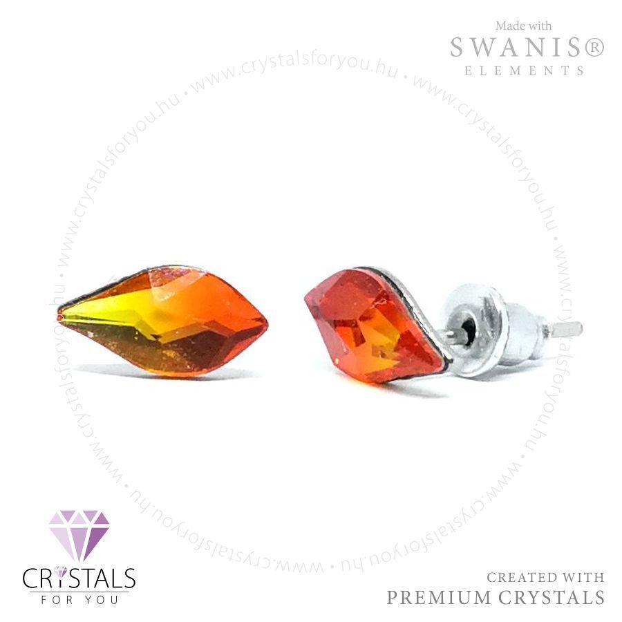 Swarovski® kristállyal díszített csepp alakú fülbevaló
